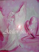 Götti des lichtvollen Herz-Geschenkes   (Leinwanddruck) FREUDE-ANGEBOT