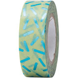 RICO tape stracciatella turquoise- 15mmx10m