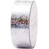 RICO tape holographique fleur argent - 19mmx10m
