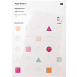 Bloc papier glitter - set candy pastel - 10pcs - 180g/m²