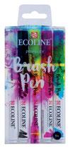 Talens brush pen - ecoline primary - 5pcs