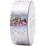 RICO tape Holographique cercle argent - 19mmx10m