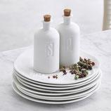 RÄDER Sel & Poivre - porcelaine - bouchon en liège - H:8,5cmxD:4cm