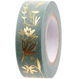 RICO tape Millefleur menthe - 1,5cmx10m