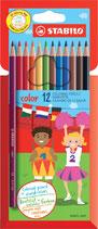 Stabilo crayons de couleurs - 12pcs