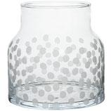 RÄDER vase Pois - verre avec imprimé - H:18cmxD:18cm
