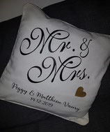 "Coussin ""Mr & Mrs"""