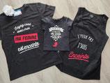 "Tee-shirt trio ""Papa maman fille"""