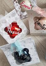 "Boule de Noël ""Prénom"" avec boîte"