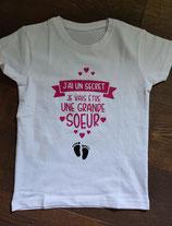 """Tee-shirt enfant """"Grande sœur"""""""