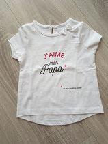 """Tee-shirt """"J'aime mon papa ... et ma maman aussi"""""""