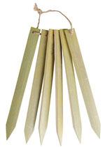 Bambus Pflanzschilder 6 Stück