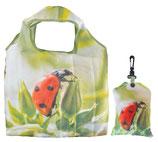 Faltbare Einkaufstasche Marienkäfer