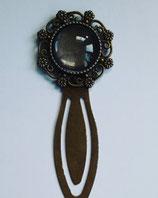 Lesezeichen Blumenrand bronzefarben Länge 7 cm mit 18 mm Fassung