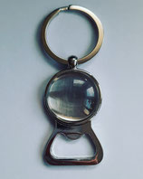 Schlüsselanhänger Flaschenöffner massiv mit Foto 25 mm