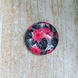 Blume schwarz/pink