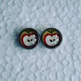 12 mm Edelstahl Ohrstecker Apfel