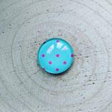 Punkte pink auf türkisem Hintergrund