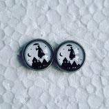 12 mm Edelstahl Ohrstecker Marry Poppins