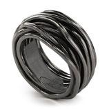 ANELLO FILODELLAVITA Rock Collection 13 fili argento 925 brunito