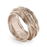 ANELLO FILODELLAVITA Classic Collection 13 fili in oro rosa 9 kt e diamanti