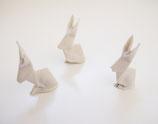 Origami Porzellanhase