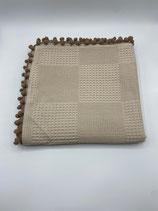 Decke einfarbig mocca (mit Bommel)
