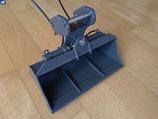 Hydraulisch schwenkbarer Grabenräumlöffel 179 mm breit