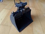 Hydraulisch schwenkbarer Tieflöffel für PC 290