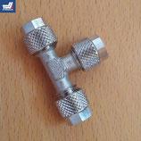 T-Hydraulikverbinder mit Überwurfmutter 6 mm