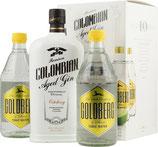 Dictador Colombian Aged Gin Ortodoxy 0,7 Liter 43 % Vol. mit 2x Goldberg Tonic 0,5 Liter