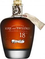 """Kirk & Sweeny Premium Rum 18 Jahre  0,7ltr.  """"limitierte Auflage"""""""