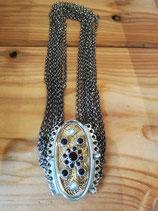 Aussergewöhnliche Kropfkette 11 Reihig in Silber