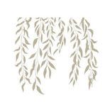 Stencil hojas colgantes