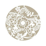 Stencil Rosetón floral