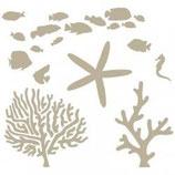 Stencil animales marinos