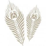 Stencil plumas