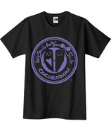 こころんTシャツ(黒×紫)