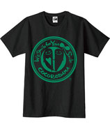こころんTシャツ(黒×緑)