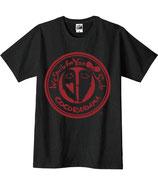 こころんTシャツ(黒×赤)