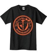 こころんTシャツ(黒×オレンジ)
