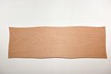Holzschild länglich, wellig gesägt, gebohrt, roh,  ca. 43 x 13 cm