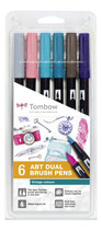 TOMBOW Dual Brush Pen Etui Vintage Colours 6er-Set