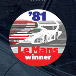 Aufkleber:  Porsche Le Mans 1981 Winner Window Sticker