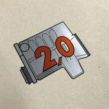 Porsche 924 engine rear window sticker 2.0