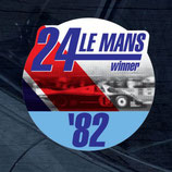 Aufkleber:  Porsche Le Mans 1982 Winner Window Sticker