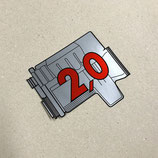 Porsche 924 turbo engine rear window sticker 2.0