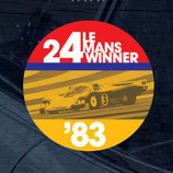 Aufkleber:  Porsche Le Mans 1983 Winner Window Sticker