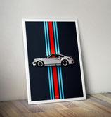 Poster Porsche 911 930 ( Nachbildung )