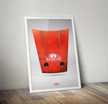 "Poster: Porsche 911 Motorhaube ""Rallye Monte – Carlo"""